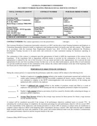 """Incumbent Worker Training Program Social Services Contract"" - Louisiana"