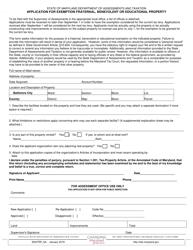 "Form SDATRP_6A ""Application for Exemption Fraternal, Benevolent or Educational Property"" - Maryland"