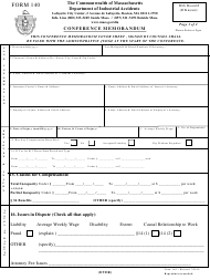 "Form 140 ""Conference Memorandum"" - Massachusetts"