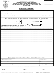 "Form 19 ""Section 19 Agreement"" - Massachusetts"