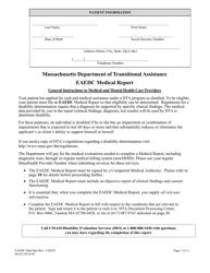 """""""Eaedc Medical Report"""" - Massachusetts"""