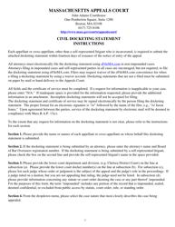 """""""Civil Docketing Statement"""" - Massachusetts"""