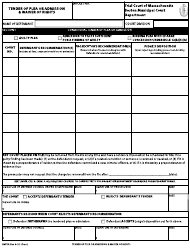 """Form BMCD """"Tender of Plea or Admission & Waiver of Rights"""" - Boston, Massachusetts"""