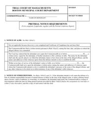 """Pretrial Notice Requirements"" - Boston, Massachusetts"