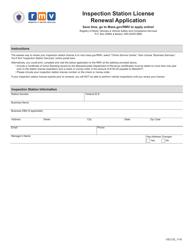"Form VSC125 ""Inspection Station License Renewal Application"" - Massachusetts"