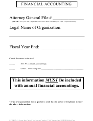 "Form CTS-16 ""Financial Accounting Id Cover"" - Michigan"
