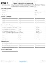 "Form EQP5950 ""Sample Siting Plan - Bacteriological"" - Michigan"