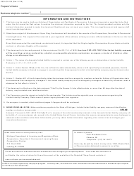 "Form CSCL/CD-753 ""Articles of Organization and Certificate of Conversion for Use by Domestic Partnerships or Domestic Limited Partnerships to Convert to a Domestic Limited Liability Company"" - Michigan, Page 3"