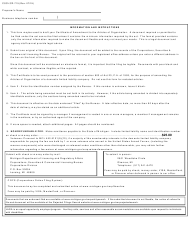 """Form CSCL/CD-715 """"Certificate of Amendment to the Articles of Organization for Use by Limited Liability Companies"""" - Michigan, Page 2"""