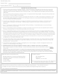 """Form CSCL/CD-750 """"Certificate of Merger for Use by Limited Liability Companies"""" - Michigan, Page 3"""