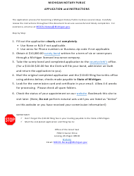 "Form 98 ""Application for Notary Commission and Attorney Reappointment"" - Michigan"