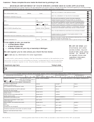 "Form DE-36 ""Driver License and Id Card Application"" - Michigan"