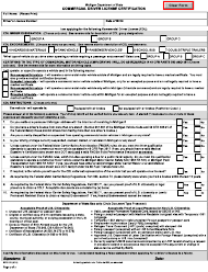 "Form BFS-103 ""Commercial Driver License Certification"" - Michigan"