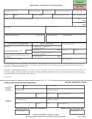 "Form R2-L ""Application to Register a Snowmobile"" - Michigan"