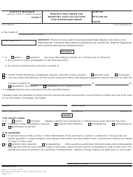 """Form JC16 """"Request and Order for Biometric Data Collection/ Photographing/Lineup"""" - Michigan"""