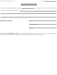 """Form PCM209A """"Order for Examination/Transport"""" - Michigan, Page 2"""