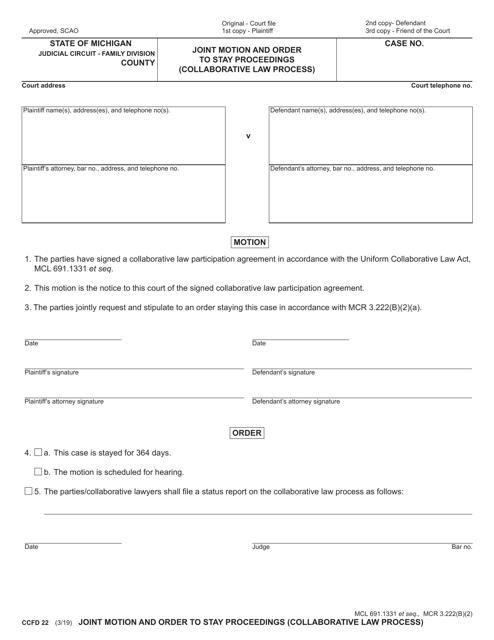 Form CCFD22  Printable Pdf
