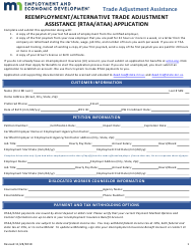 """Reemployment/Alternative Trade Adjustment Assistance (Rtaa/Ataa) Application"" - Minnesota"