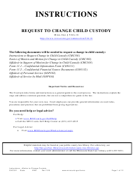 "Form CHC301 ""Instructions - Motion to Change Custody"" - Minnesota"