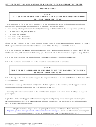 "Form CSX1301 ""Instructions - Motion to Reinstate Child Support Interest"" - Minnesota"