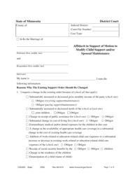 "Form CSD203 ""Affidavit in Support of Motion to Modify"" - Minnesota"