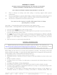 "Form CSD301 ""Instructions for Response to Motion to Modify Child Support and/Or Spousal Maintenance"" - Minnesota"