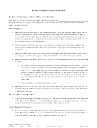 "Form PRO906 ""Notice to Spouse and/Or Children"" - Minnesota"