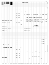 "Form 72-110-19-3 ""Use Tax Form"" - Mississippi"