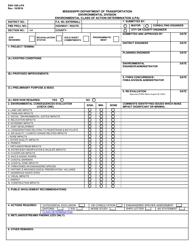 "Form ENV-160-LPA ""Environmental Class of Action Determination (Lpa)"" - Mississippi"