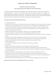 """Form BCC-1A """"Checklist for Initial Applicant for a Group Child Care Home or Child Care Center"""" - Missouri"""