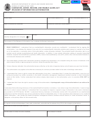 """Form MO580-3258 """"Caregiver, Advise, Record, and Enable (Care) Act Release of Information Authorization"""" - Missouri"""