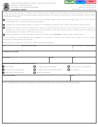 "Form MO580-3036 ""Disenrollment"" - Missouri"