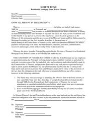 """Residential Mortgage Loan Broker License Surety Bond"" - Missouri"