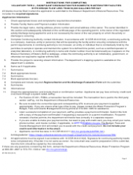 """Form MO780-2804 """"Antidegradation Review Submittal Voluntary Tier 2 - Significant Degradation for Domestic Wastewater Facilities With Design Flow Less Than 50,000 Gallons Per Day"""" - Missouri, Page 6"""