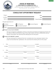 """""""Agency Consultant Appointment Request"""" - Montana"""