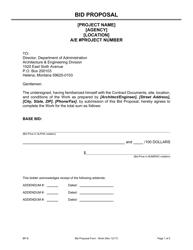 "Form BP-S ""Proposal Form Short"" - Montana"