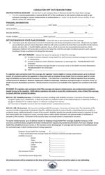 """Legislator Opt out/Waiver Form"" - Montana"