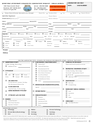 "Form SV43 ""Montana Veterinary Diagnostic Request - Single Animal"" - Montana"