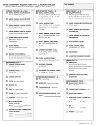 "Form SV43 ""Montana Veterinary Diagnostic Request - Single Animal"" - Montana, Page 2"