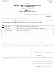 """Form 14 Page 1 """"Bond (Certificate of Deposit or Letter of Credit)"""" - Montana"""