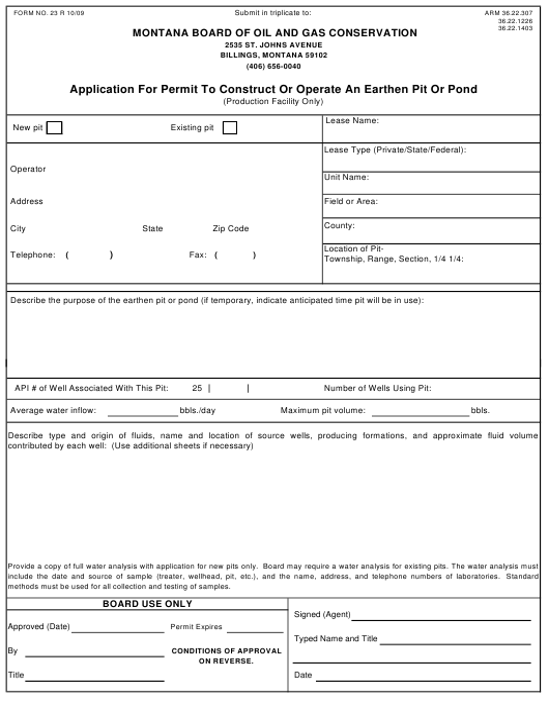 Form 23  Printable Pdf