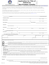 "Form MV12 ""Application for Title of Vehicle by Non-probate Transfer"" - Montana"