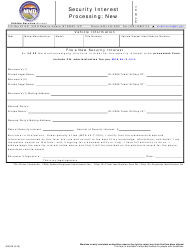 "Form MV81B ""Security Interest Processing: New"" - Montana"