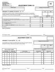 "Form UI11A ""Adjustment Form"" - Nebraska"