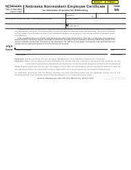 "Form 9N ""Nebraska Nonresident Employee Certificate for Allocation of Income Tax Withholding"" - Nebraska"