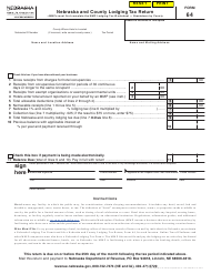 "Form 64 ""Nebraska and County Lodging Tax Return"" - Nebraska"