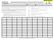 "Form 94 ""Nebraska Waste Reduction and Recycling Fee Schedule"" - Nebraska"