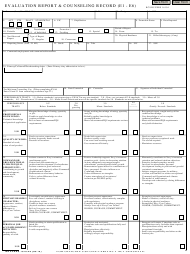 """NAVPERS Form 1616/26 """"Evaluation Report & Counseling Record (E1-e6)"""""""