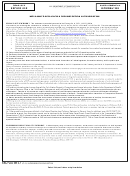 "FAA Form 8610-1 ""Mechanic's Application for Inspection Authorization"""