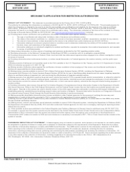 FAA Form 8610-1 Mechanic's Application for Inspection Authorization